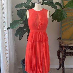 BCBGMAXAZRIA coral Peplum Dress
